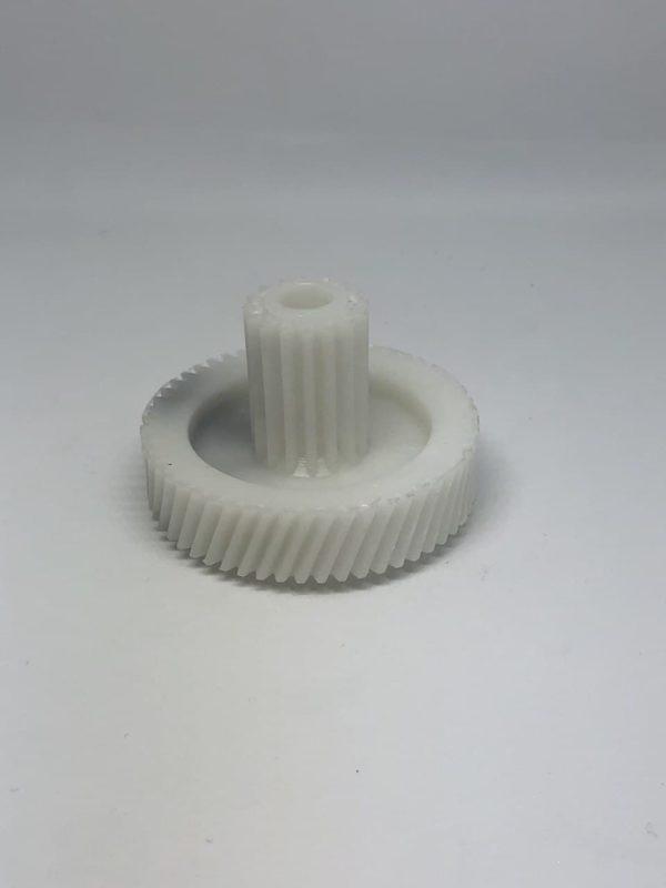 Шестеренка мясорубки Elenberg, Panasonic малая D50,5 - кос. зуб d17,5 - прям. зуб - H35 h12