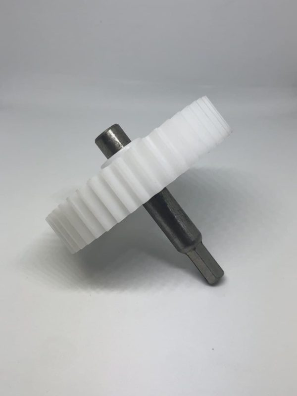 Шестеренка мясорубки Polaris шнековая D80 р17 прям. зуб шток 74mm шестригранник 8mm