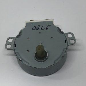 Мотор вращения тарелки СВЧ печи 21V, 3W, 5-6 r/min шток d7mm срез 5mm h11mm