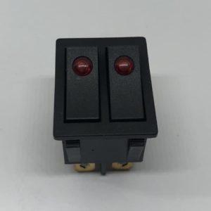 Кнопка масляного радиатора 15A 250V 2 клавиши 26х31mm