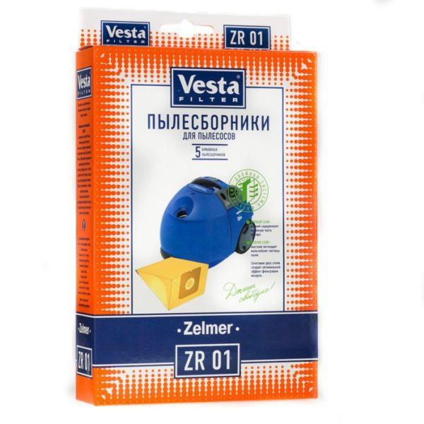 Мешок пылесоса одноразовый Zelmer упаковка 5 шт Веста ZR01