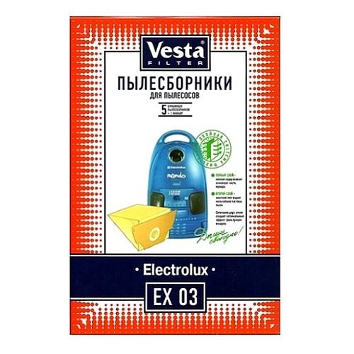 Мешок пылесоса одноразовый Electrolux упаковка 5 шт+1фильтр Веста EX03