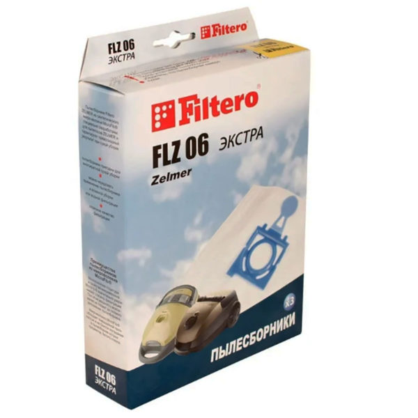 Мешок пылесоса нетканый одноразовый Zelmer, Bork упаковка 3 шт FLZ06