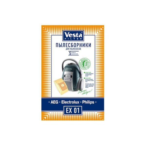 Мешок пылесоса одноразовый Electrolux, AEG, Philips упаковка 5 шт Веста EX01
