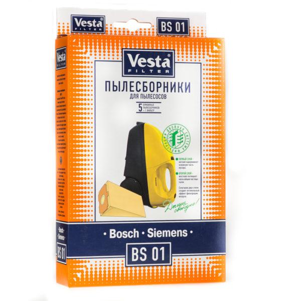 Мешок пылесоса одноразовый Bosch, Siemens упаковка 5 шт Веста BS01