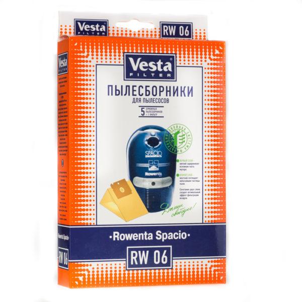 Мешок пылесоса одноразовый Rowenta: Spacio RS 600-699 упаковка 5 шт+1фильтр Веста RW06