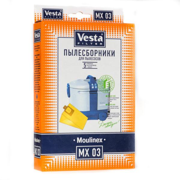 Мешок пылесоса одноразовый Moulinex упаковка 5 шт+1фильтр Веста MX03