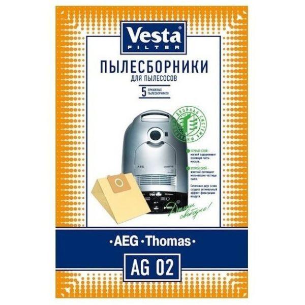 Мешок пылесоса одноразовый AEG,Thomas  упаковка 5 шт Веста AG02