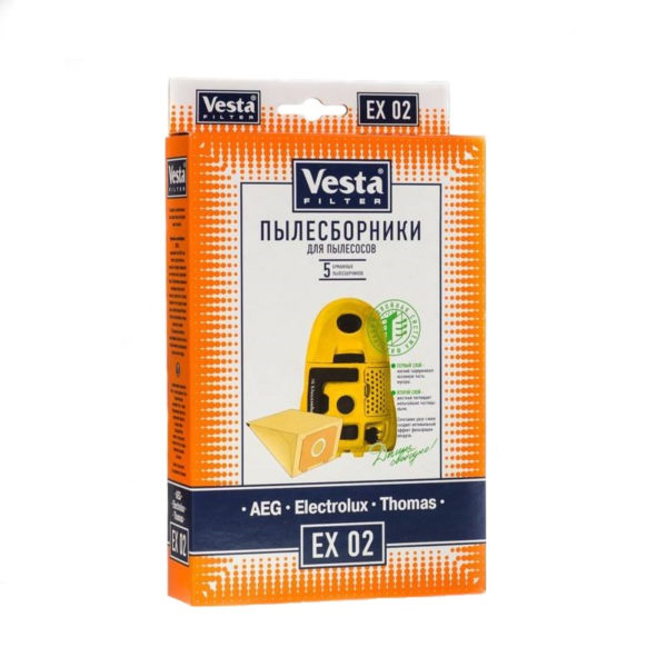 Мешок пылесоса одноразовый Electrolux, AEG, Thomas упаковка 5 шт Веста EX02