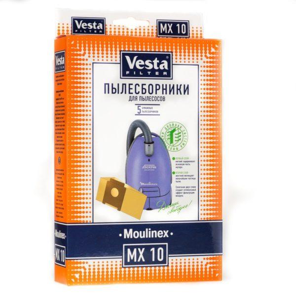Мешок пылесоса одноразовый Moulinex упаковка 5 шт+1фильтр Веста MX10