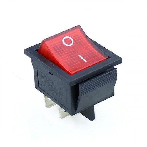 Кнопка клавишная КСД4 25А 250V 4 контакта 25x32mm