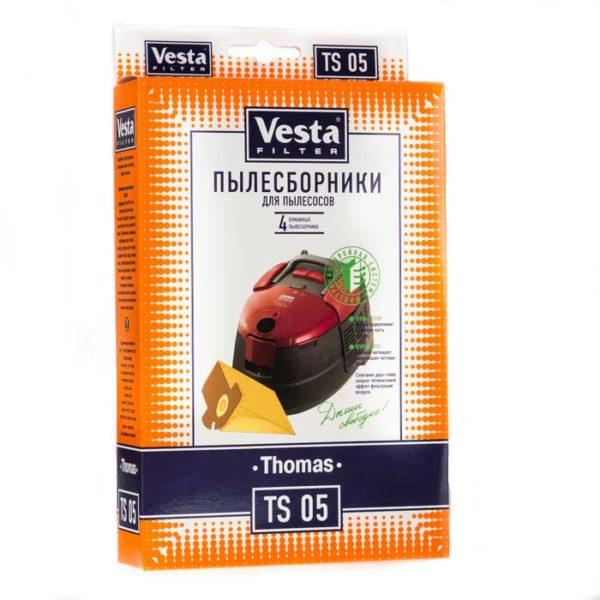 Мешок пылесоса одноразовый Thomas, Electrolux упаковка 4 шт Веста TS05