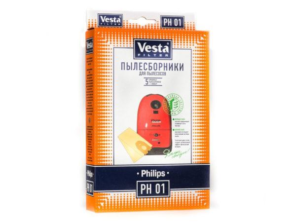 Мешок пылесоса одноразовый Philips упаковка 5 шт+1фильтр Веста PH01