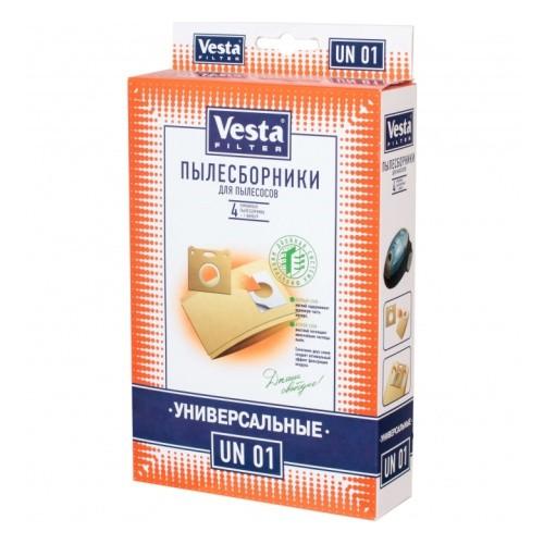 Мешок пылесоса одноразовый универ. упаковка 4 шт + фильтр Веста UN01